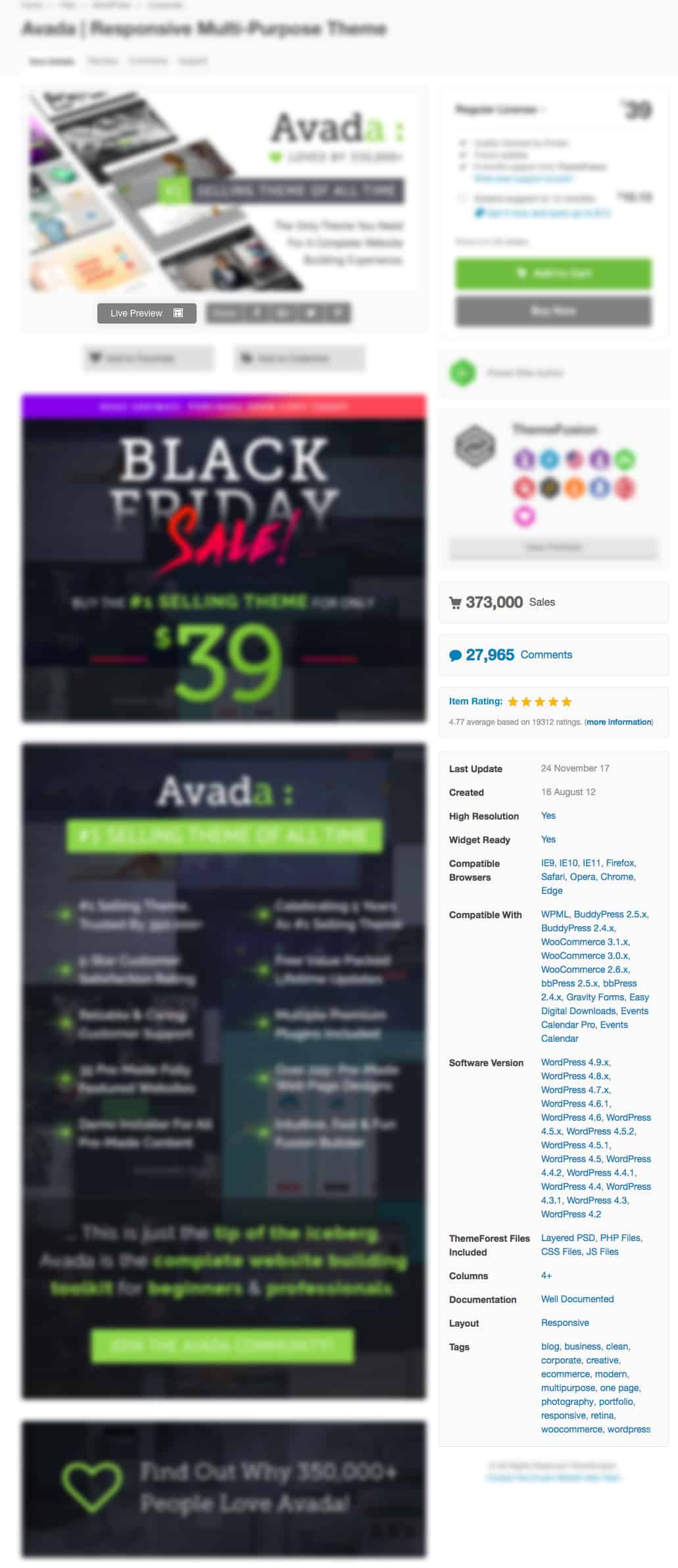Avada themeforest wordpress template