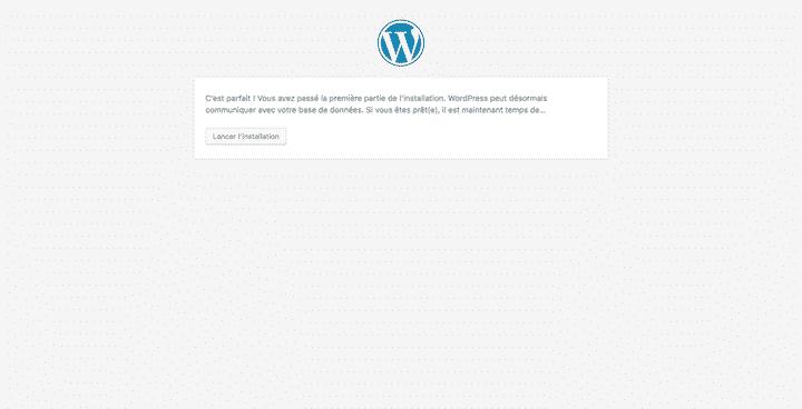 configuration wordpress base de données 3
