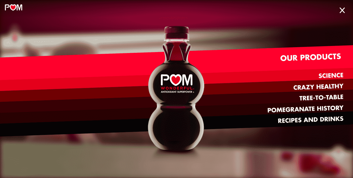 POM Wonderful site internet